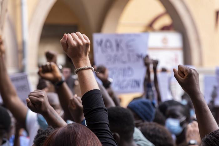 People protesting - AJ Dahiya - Becoming Justice